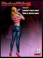 BlackonWhite3D -Candie Your First Time A Black Man