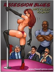 Kaos Comics -Recession Blues -Wife Forced to Strip