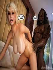 InterracialSex3D – Busty Blonde's Interracial Adventure